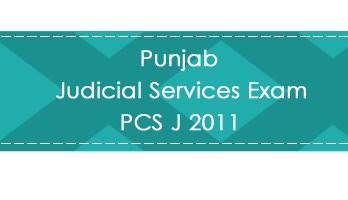 Punjab Judicial Services Exam PCS J 2011 LawMint.com Judiciary Exam Mock Tests Civil Judge Previous Papers Legal Test Series MCQs Study Material Model Papers