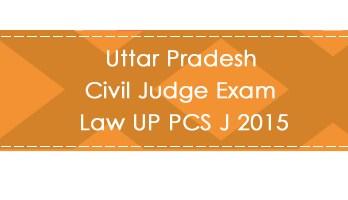 Uttar Pradesh Civil Judge Exam Law UP PCS J 2015 LawMint.com