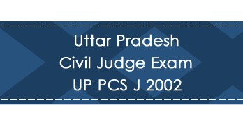 Uttar Pradesh Civil Judge Exam UP PCS J 2002 LawMint.com