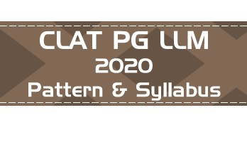 CLAT PG 2020 LLM Official Syllabus Detailed Exam Pattern Previous Question Paper Mock Test Series LawMint