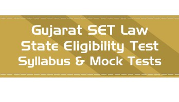 GSET Law Gujarat State Eligibility Test Law Syllabus Eligibility Mock Tests Model Papers Previous Papers