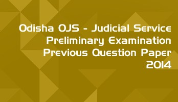 Odisha OPSC OJS Civil Judge Preliminary Exam OJS 2014 Previous Question Paper Answer Key Mock Test Series LawMint