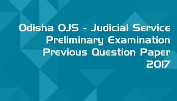 Odisha OPSC OJS Civil Judge Preliminary Exam OJS 2017 Previous Question Paper Answer Key Mock Test Series LawMint