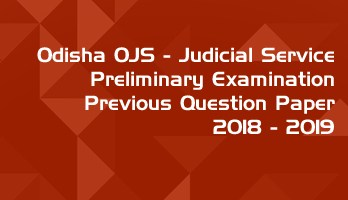 Odisha OPSC OJS Civil Judge Preliminary Exam OJS 2018 2019 Previous Question Paper Answer Key Mock Test Series LawMint