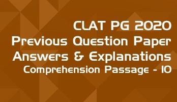 CLAT PG 2020 Comprehension passage 10 with answers explanation LawMint CLAT PG Mock Test Series