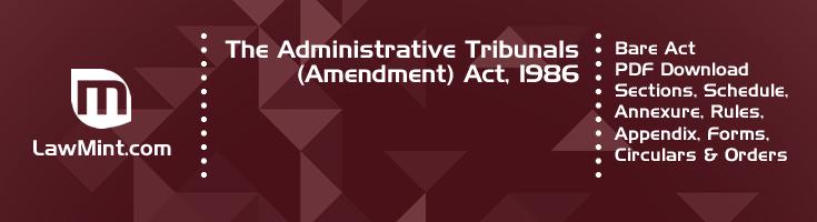 The Administrative Tribunals Amendment Act 1986 Bare Act PDF Download 2