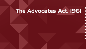 The Advocates Act 1961 Bare Act PDF Download 2