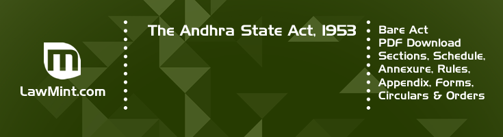 The Andhra State Act 1953 Bare Act PDF Download 2