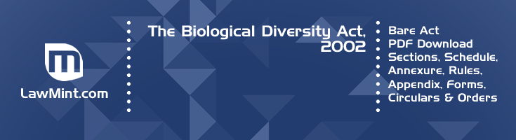 The Biological Diversity Act 2002 Bare Act PDF Download 2