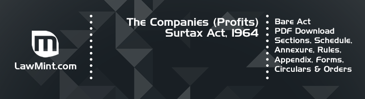 The Companies Profits Surtax Act 1964 Bare Act PDF Download 2