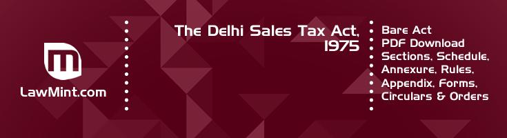 The Delhi Sales Tax Act 1975 Bare Act PDF Download 2