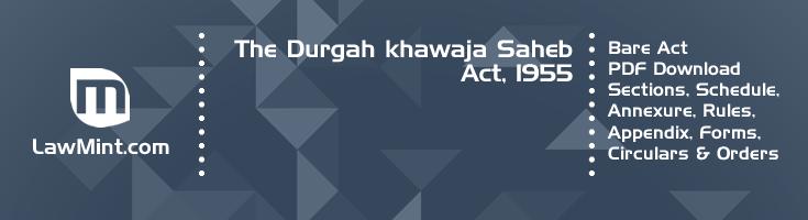 The Durgah khawaja Saheb Act 1955 Bare Act PDF Download 2