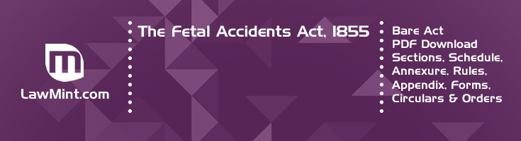 The Fetal Accidents Act 1855 Bare Act PDF Download 2