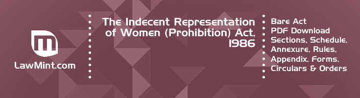 The Indecent Representation of Women Prohibition Act 1986 Bare Act PDF Download 2