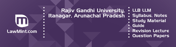 Rajiv Gandhi University LLB LLM Syllabus Revision Notes Study Material Guide Question Papers 1