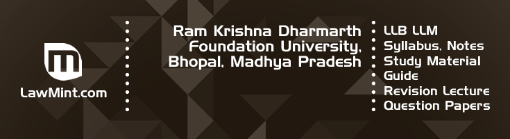 Ram Krishna Dharmarth Foundation University LLB LLM Syllabus Revision Notes Study Material Guide Question Papers 1