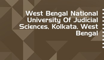 West Bengal National University Judicial Sciences LLB LLM Syllabus Revision Notes Study Material Guide Question Papers 1