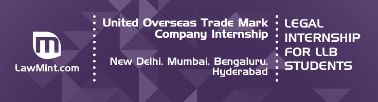 united overseas trade mark company internship application eligibility experience new delhi mumbai bengaluru hyderabad