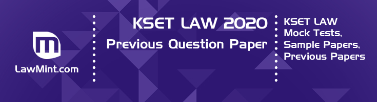 KSET Law 2020 Previous Question Paper Mock Test Model Paper Series