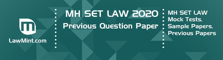 MH SET Law 2020 Previous Question Paper Mock Test Model Paper Series
