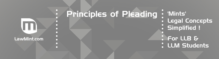 Pleading and Principles of Pleading LawMint For LLB and LLM students