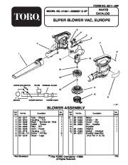 Toro 51557 Super Blower Vac Manual, 1995