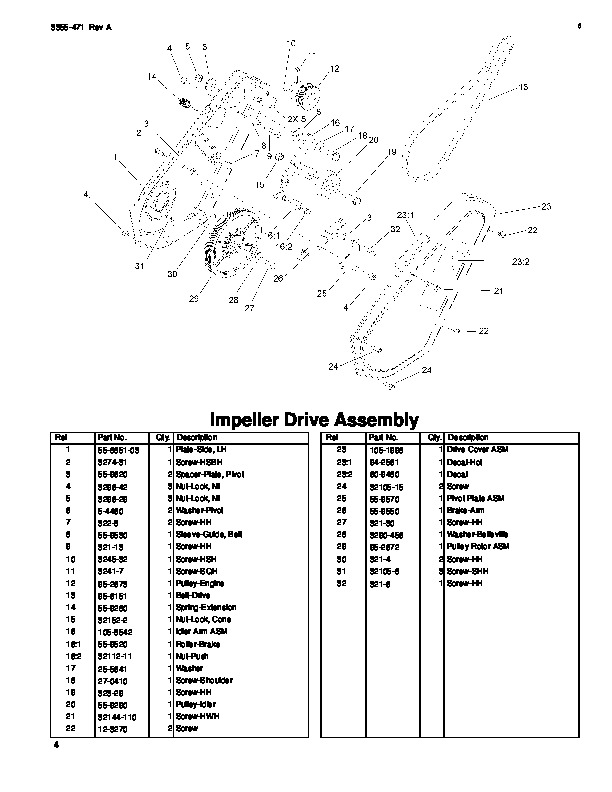 Toro CCR 2450 GTS 38535 Snow Blower Parts Manual, 2007