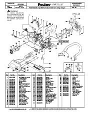 Poulan BH 2160 LE Chainsaw Parts List, 2006