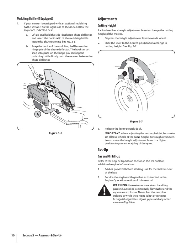 MTD 08M Push Lawn Mower Owners Manual