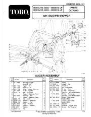 Toro 38052 521 Snowblower Manual, 1994