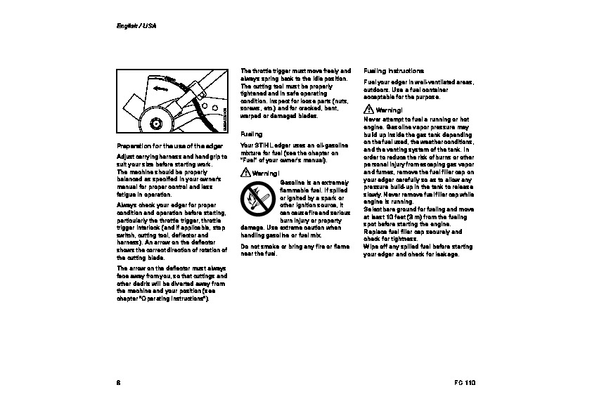 STIHL FC 3110 Edger Owners Manual
