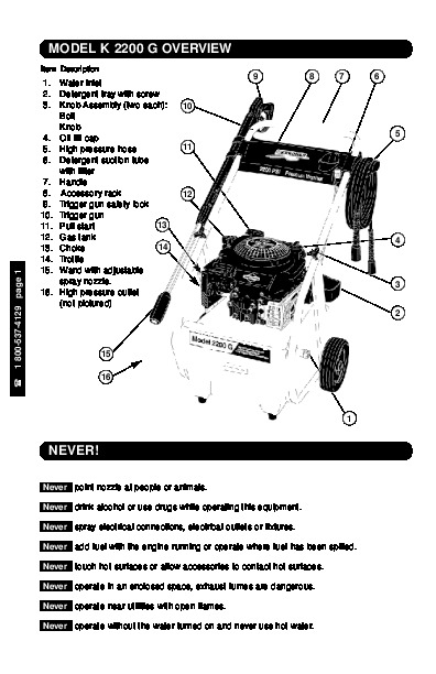 Kärcher K 2200 G Gasoline Power High Pressure Washer