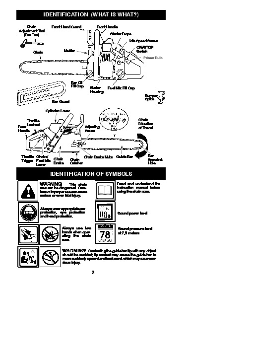 McCulloch Mac 3 14XT 4 18XT 4 20XT Chainsaw Owners Manual