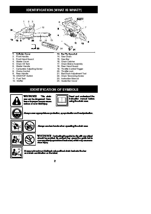 Husqvarna 17 142 Chainsaw Owners Manual, 2002,2003,2004,2005