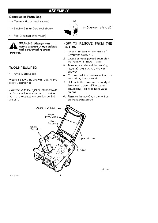 Craftsman 536.881510 22-Inch Snow Blower Owners Manual