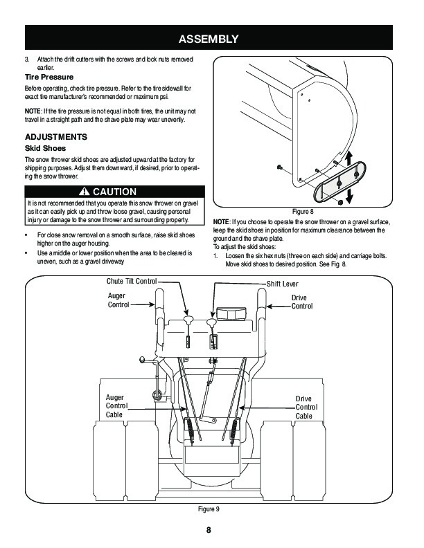 Craftsman 247.88045 45-Inch Snow Blower Owners Manual