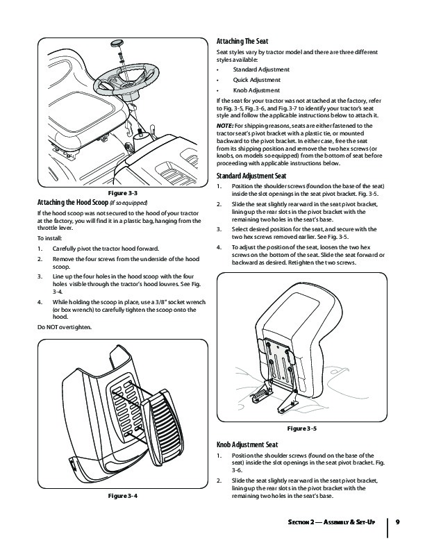 MTD 610 Hydrostatic Tractor Lawn Mower Owners Manual