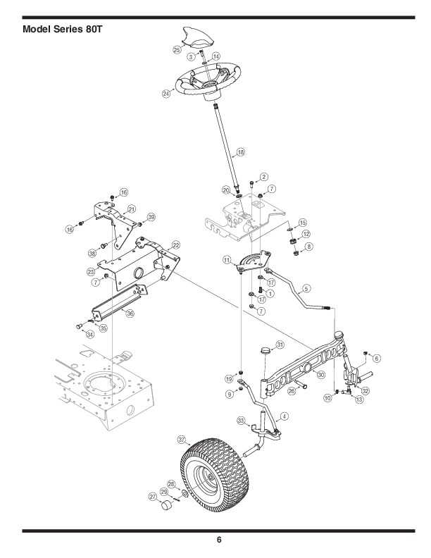 MTD 800 Series Automatic Garden Tractor Lawn Mower Parts List