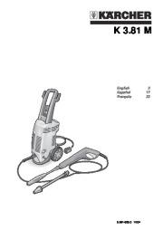 Kärcher K 3.81 M Electric Power High Pressure Washer