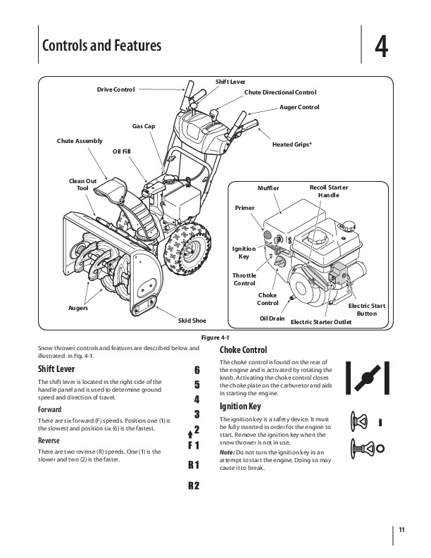 MTD 600 Series K Style Snow Blower Owners Owners Manual