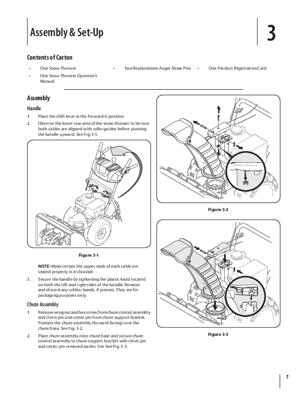MTD 600 Series K Style Snow Blower Owners Manual