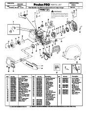 2006 Poulan Pro PP3516 Chainsaw Parts List