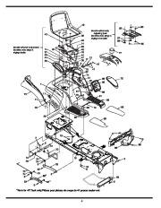 MTD 800 Hydrostatic Lawn Tractor Mower Parts List