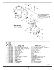 MTD 800 Hydrostatic Lawn Tractor Mower Parts List