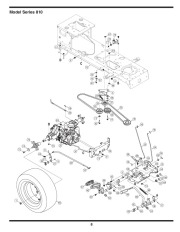 MTD 810 Hydrostatic Lawn Tractor Mower Parts List