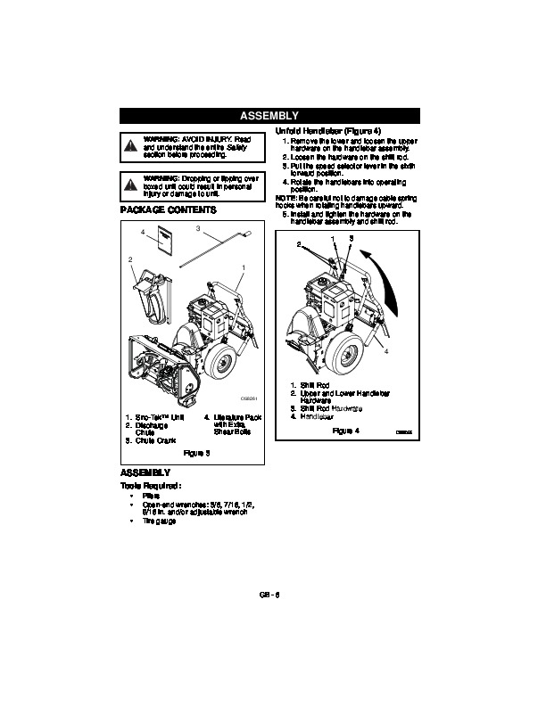 Ariens Sno Tek 24 26 920400 920401 Snow Blower Owner Manual