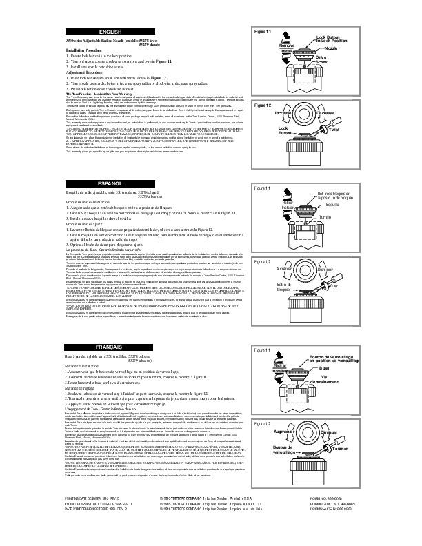 Toro Multi Stream Sprinkler Irrigation Owners Manual
