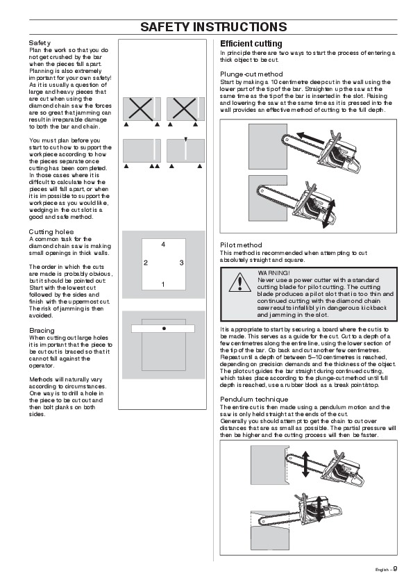 Husqvarna K950 Chain Chainsaw Owners Manual, 2007