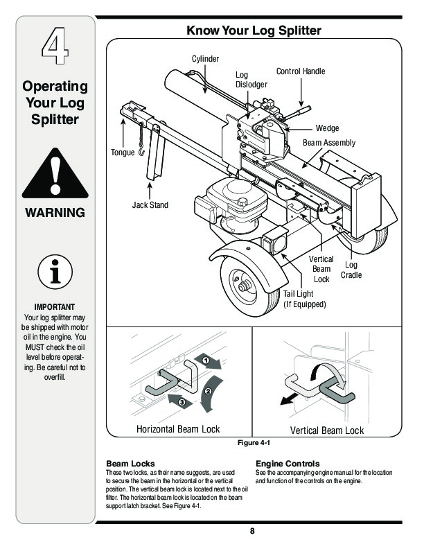 MTD 510 570 Log Splitter Lawn Mower Owners Manual