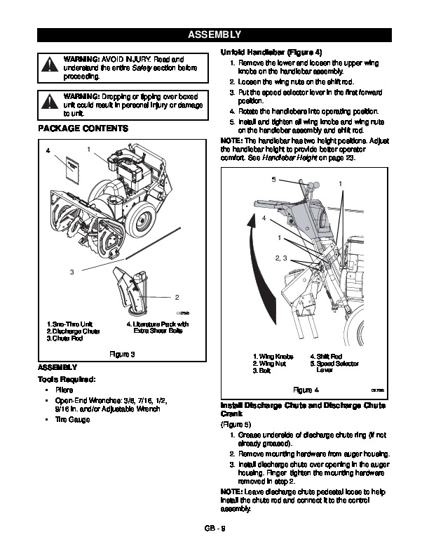 Ariens Sno Thro 926 Series Snow Blower Service Manual